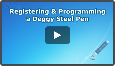 Registering & Programming a Deggy Steel Pen